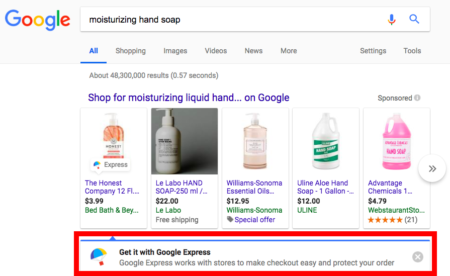 Google Express Appears in Google Search