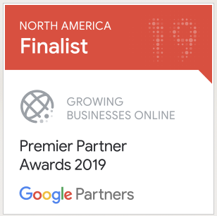 north america finalist google partner premier awards 2019 badge