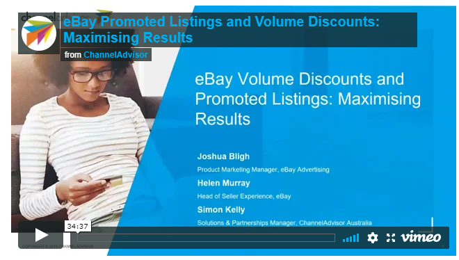 EBay and Channeladvisor Webinar - Promoted Listings and Volume Discounts